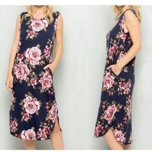 bdd17fe79306 Acting Pro Floral Pocket Sleeveless Dress Large